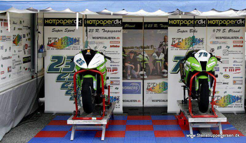 hotpaper efterisolering støtter motorcykelsporten